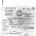 """Das letzte Dokument aus der Strafakte: """"Abgang eines Gefangenen"""". Quelle: Landesarchiv Berlin"""