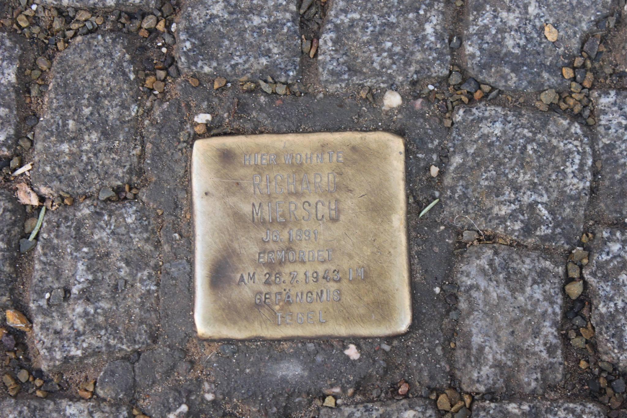 Stolperstein für Richard Miersch. Foto: Beke Detlefsen CC BY-SA 3.0