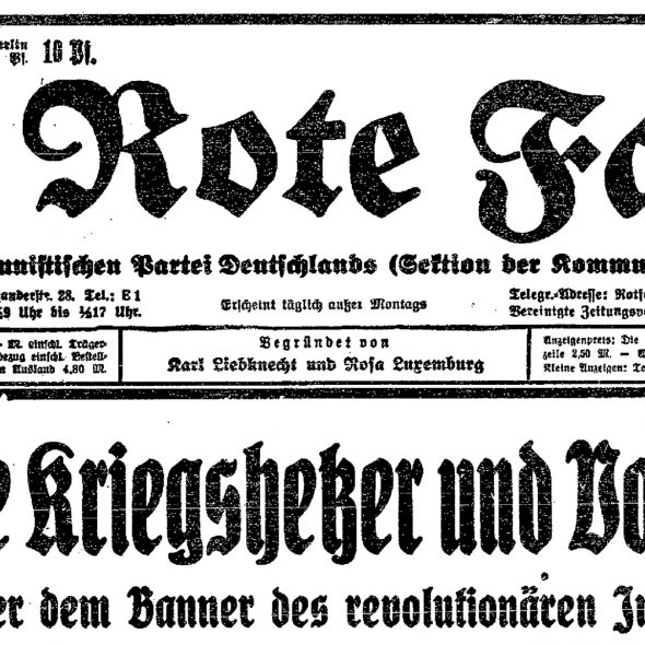 Aufruf der KPD zur Antikriegsdemonstration 1. August 1931