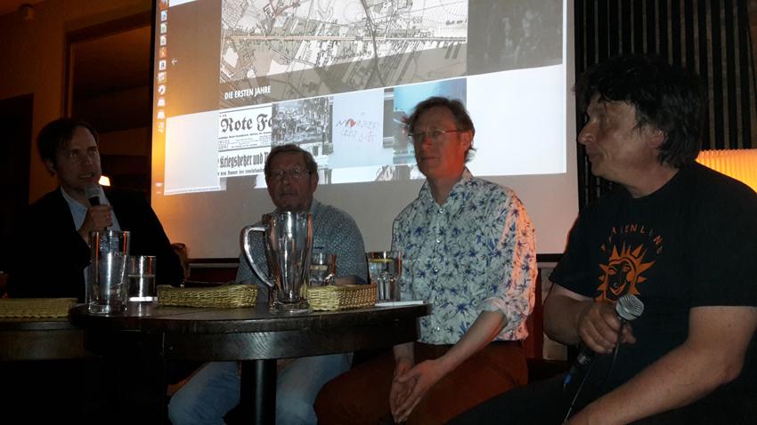 Podiumsgepräch mit Freke Over, Dirk Moldt, Hartmut Moldenhauer, Hanno Hochmuth (v.r.). Foto I. Zündorf ©